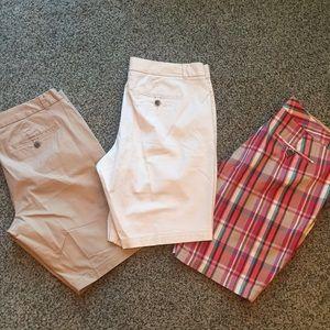 3 pair low rise slightly curvy Bermuda shorts
